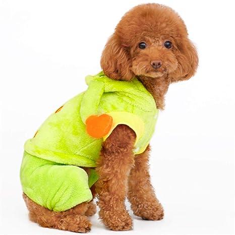 Feiboy Mascotas Cálido Disfraces Cachorros Otoño Traje ...