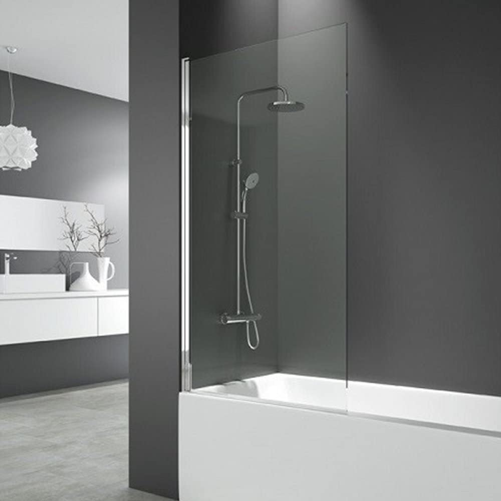 DEGEO mampara de bañera Cronos par mampara de Cristal Templado 6 mm – 85 x 150 cm   Design épuré: Amazon.es: Hogar
