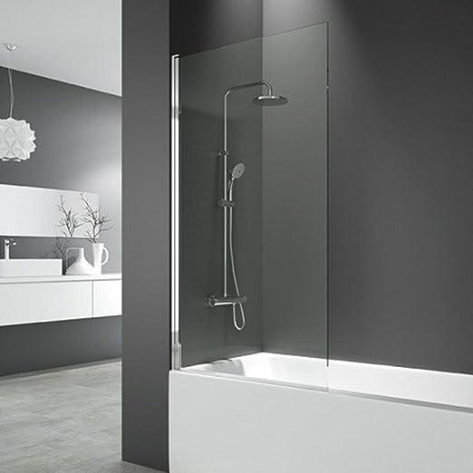 DEGEO mampara de bañera Cronos par mampara de Cristal Templado 6 mm – 85 x 150 cm | Design épuré: Amazon.es: Hogar