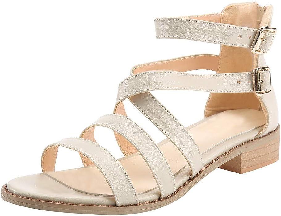 e1fabf41069d0 Amazon.com: Claystyle Womens Flip Flop Strap Flat Sandals Criss ...