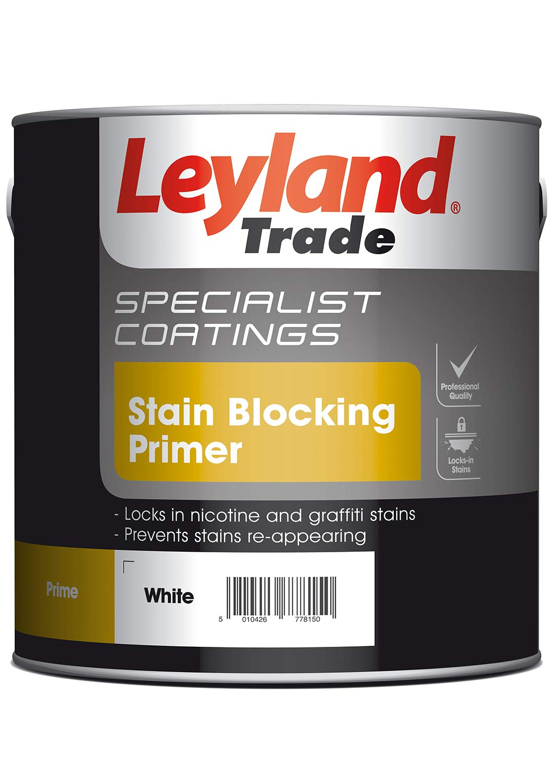 Leyland Speciality 308454 Stain Blocking Primer, White, 2.5 PPG