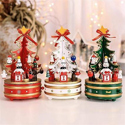Regali Di Natale Artigianali.Music Box Albero Di Natale In Legno Carillon Campana Carillon