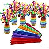 URToys 2Packs (200pcs) Multicolour Chenille Stems 6 mm x 12 Inch Pipe ...
