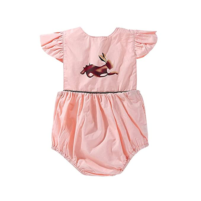 Amazon.com: fartido Pelele bebé niña overol estampado de ...