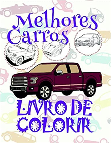 Livro De Colorir Melhores Carros Coloring Books For Adults