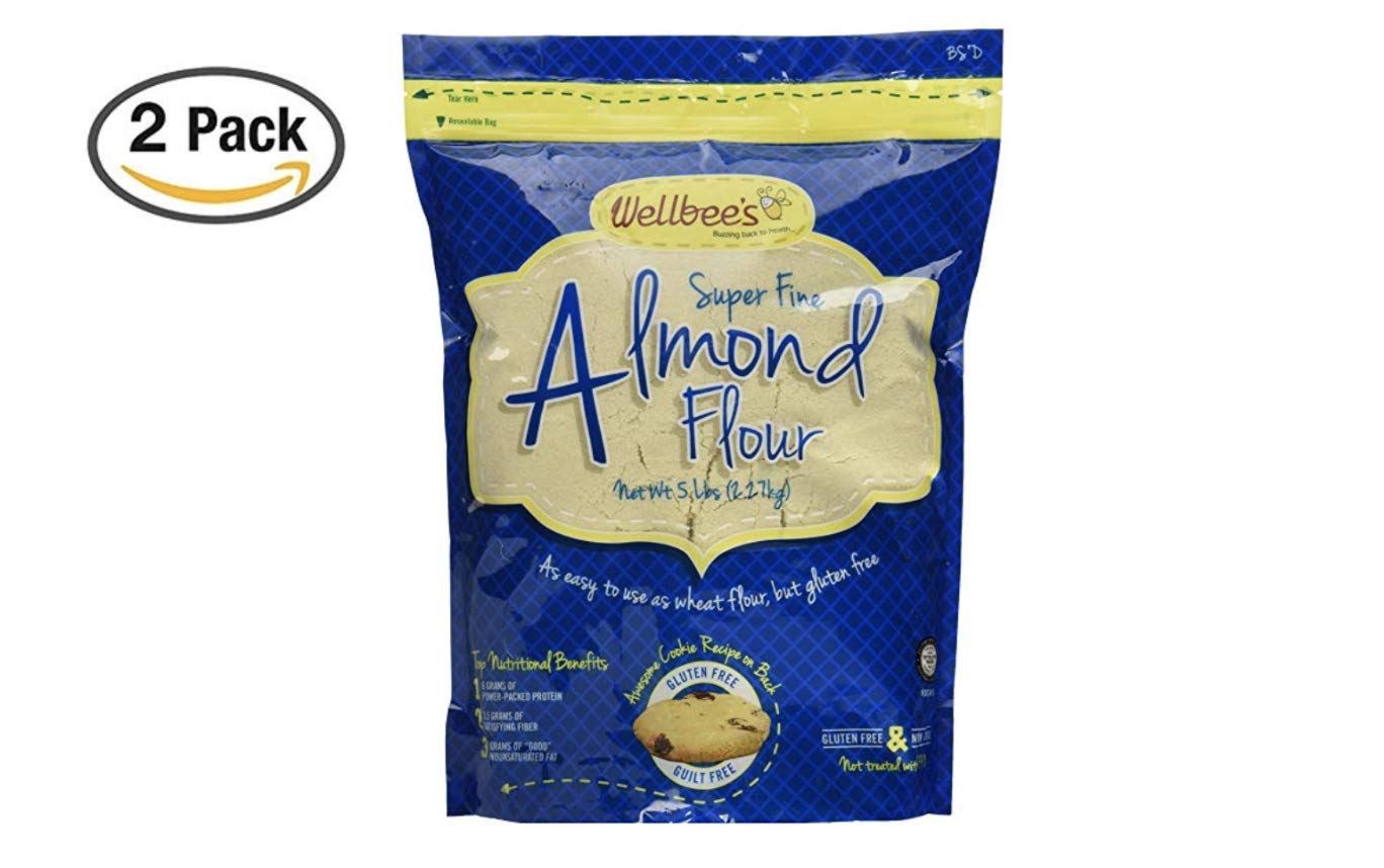 Wellbee's Super Fine Blanched Almond Flour/Powder 5 LB (5 Pound (2 Pack))