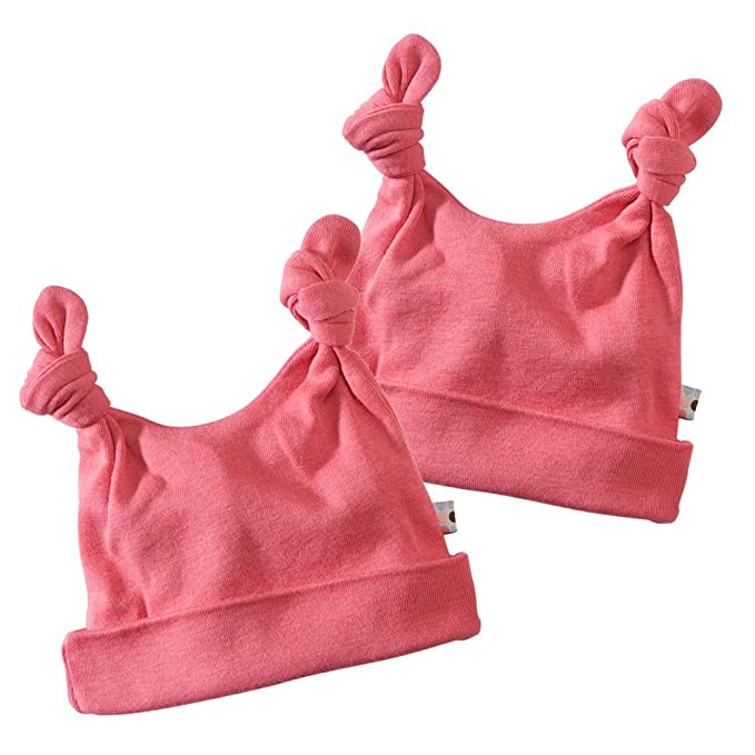Amazon.com  Babysoy Baby Girls  Double Knot Hat-2 Pack  Clothing bd9cb280456