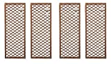 Ruddings Wood Pack of 4 x Willow Trellis Framed Panels - Climbing Plant Garden Wall Diamond Plant Patio Flower Honeysuckle Frame Trellis Support Screen