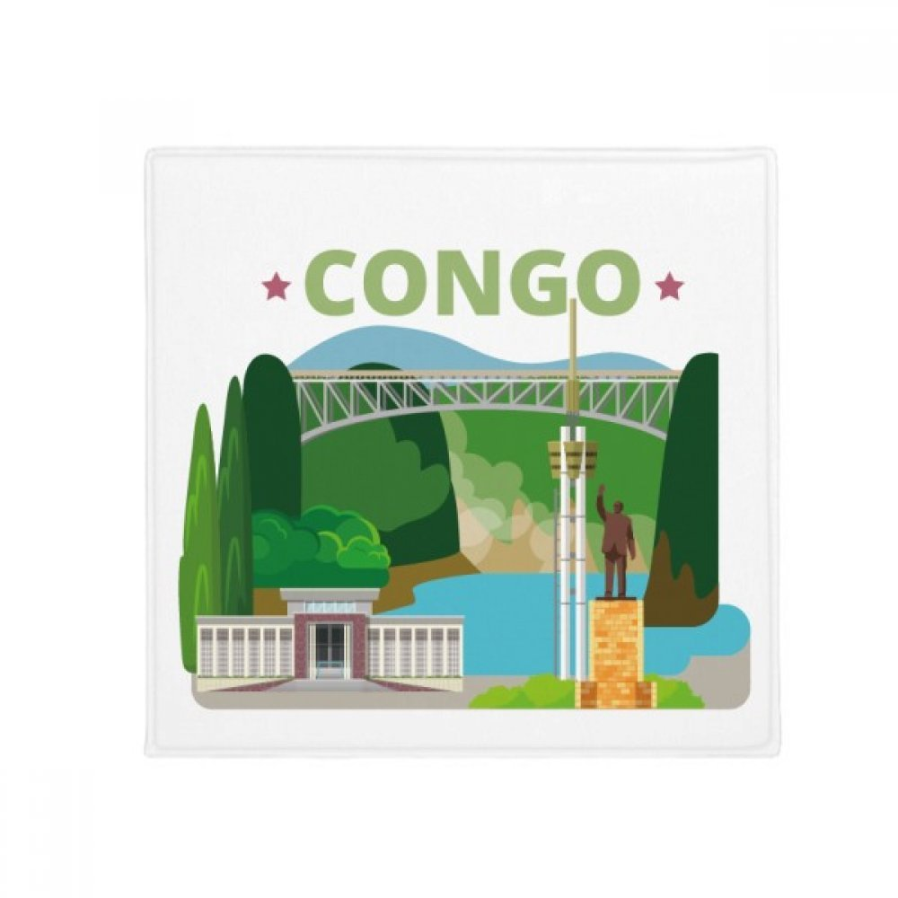 DIYthinker City Statue Building Congo Anti-Slip Floor Pet Mat Square Home Kitchen Door 80Cm Gift
