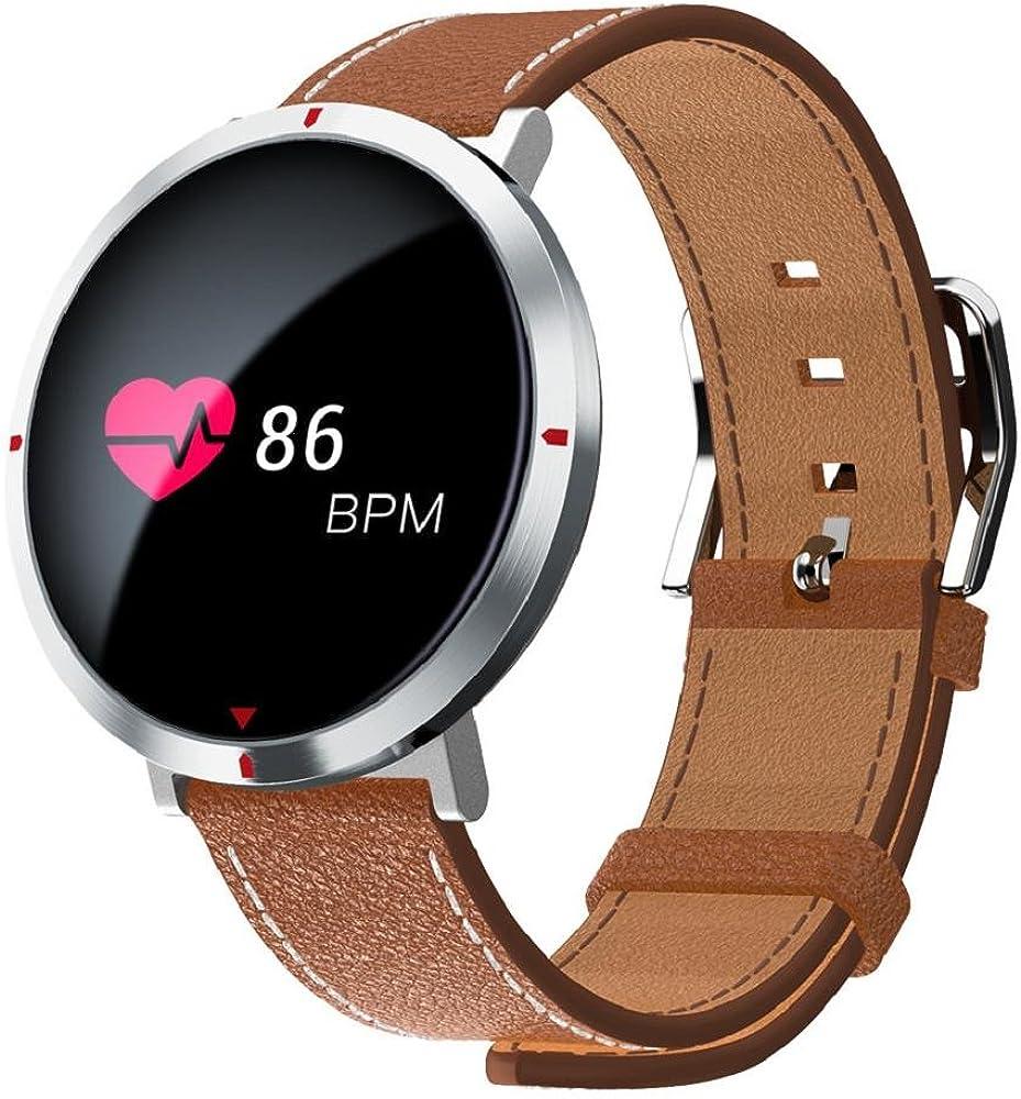 QUICKLYLY Pulsera Actividad,Inteligente con Pulsómetro Cardíaco Monitor para Mujer Hombre Reloj Fitness Podómetro,Sueño,Notificación de SMS para ...