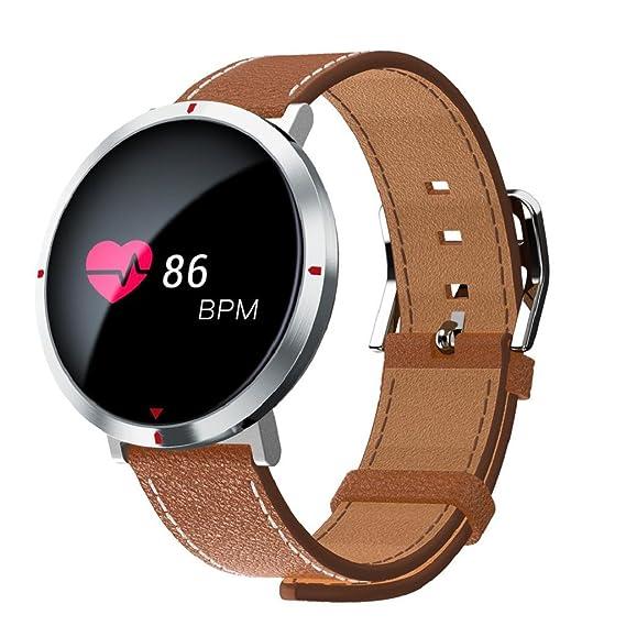 QUICKLYLY Pulsera Actividad,Inteligente con Pulsómetro Cardíaco Monitor para Mujer Hombre Reloj Fitness Podómetro,