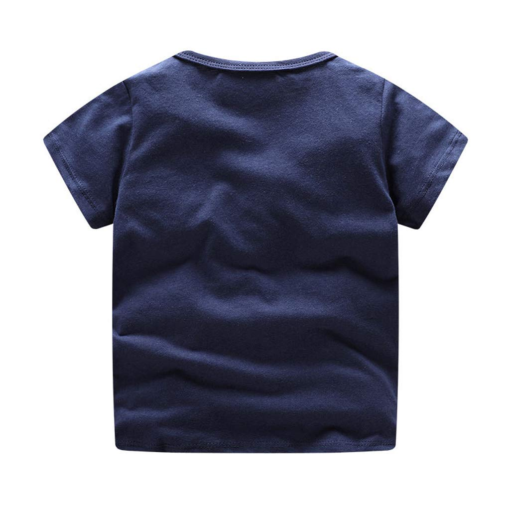 NUWFOR Children Kids Baby Girls Boys Cartoon Print T-Shirt Tee Tops Clothes (Navy,4-5 Years by NUWFOR (Image #2)