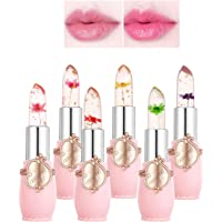 6Pcs/Set Crystal Lipstick Color Change Lip Gloss Color Changing Waterproof Temperature Changes Color Lips Moisturizing…