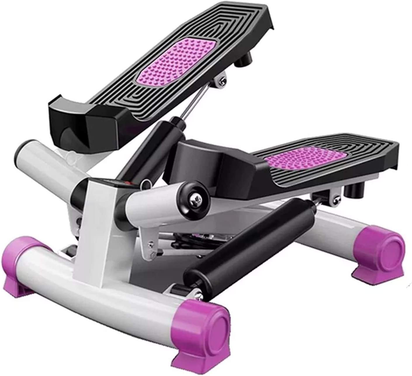 JINGOU Mini Stair Stepper Step Machine for Exercise with Resistance Bands, Twist Stepper for Exercise with LED Monitor, Fitness Step Equipment for Home Workouts, Up to 250 lbs Capacity (Purple)