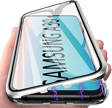 Funda Galaxy A30, Anfire Adsorción Magnética Carcasa, 360 Grados Delantera y Trasera de Transparente Vidrio Templado Case Metal Bumper Cubierta Cover para Samsung Galaxy A30, Dinero: Amazon.es: Electrónica