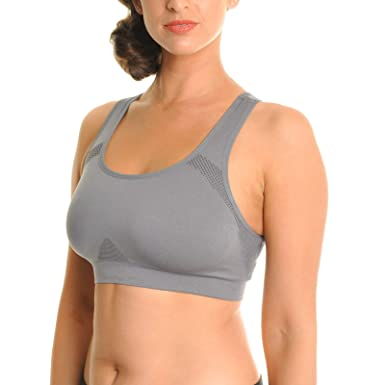 aeeb9ef4907c4 Angelina Seamless Double Layer Racerback Sports Bras (3-Pack) at ...