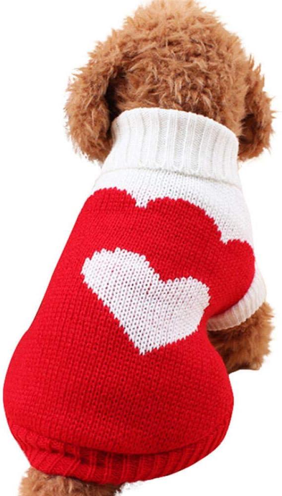 CLIN Suéter para Mascotas Lana Cálida para Mascotas Perro 4 Colores Suéter Suave para Perros pequeños Cachorros 4 Colores Mascotas Hondenjas Ropa para Perros Ropa para Perros de Invierno-C XL