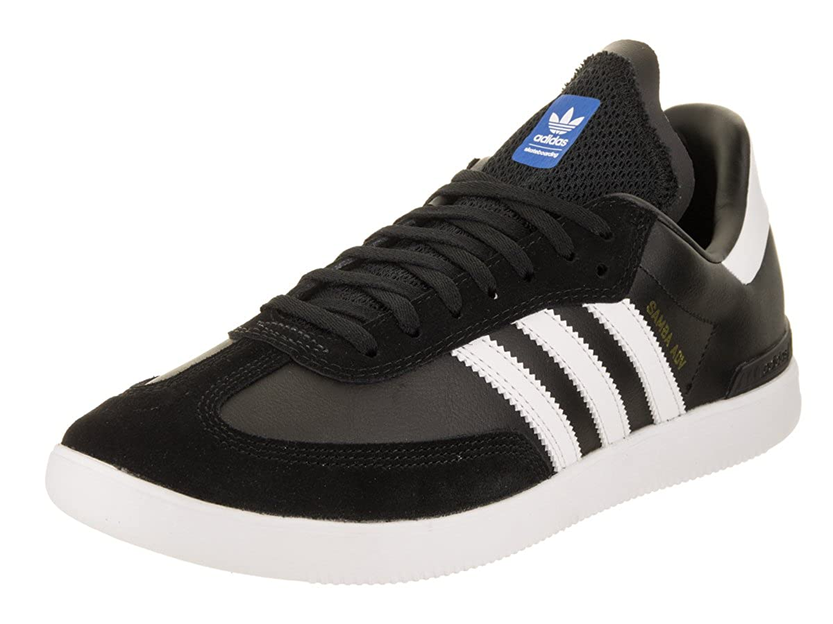 adidas Skateboarding Men's Samba ADV Core Black/Footwear White/Bluebird 13 D US D (M)