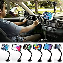 Magicmoon® Universal Long Arm/neck 360 Degree Rotation Windshield Car Mount/holder Clip Window/Desktop Suction Cup Stand Cradle Holder for GPS Devices,iPhone SE 6/6s/6 plus/6s plus,Samsung Galaxy S7/S7 Edge/S6/S6 Edge/S5/Note 5 and Most Mobile Cell Phones