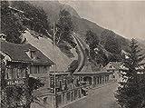 ALPNACH STAD. Starting-point of the Pilatus Railway. Switzerland - 1895 - old print - antique print - vintage print - Switzerland art prints