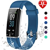 Lintelek Fitness Tracker, Fitness Watch Schermo a Colori Orologio Braccialetto Cardiofrequenzimetro Braccialetto Bluetooth Activity Tracker Impermeabile IP68 per Nuoto, per Uomo Donna