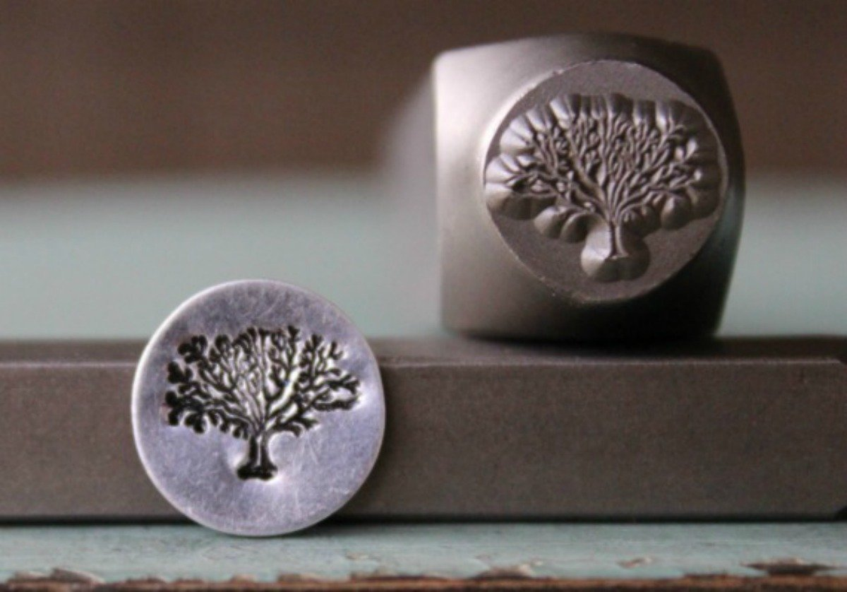 10mm Tree of Life Metal Punch Design Jewelry Stamp