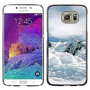 Caucho caso de Shell duro de la cubierta de accesorios de protección BY RAYDREAMMM - Samsung Galaxy S6 - Nature Mountan Snow