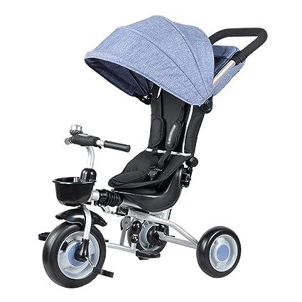 Triciclos Plegable de los Niños de la Bicicleta Trolley de los Bebés 1-5 Años