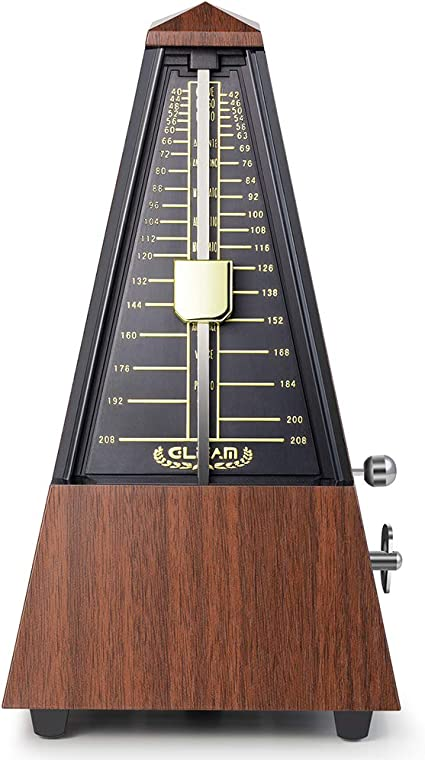 GLEAM Mechanical Metronome Classic with Carrying Bag for Piano Guitar and...