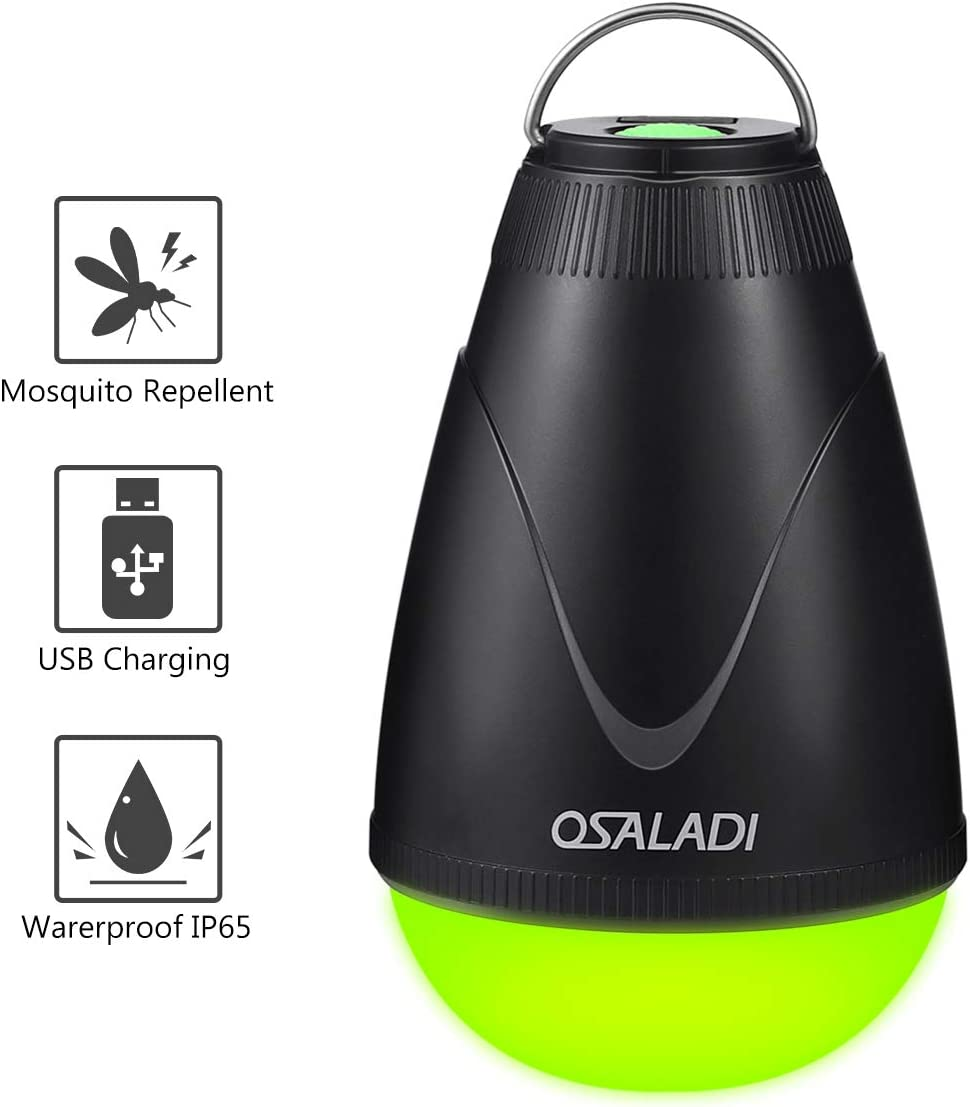 OSALADI 2-in-1 Camping Lantern Bug Zapper Tent Light Waterproof Rechargeable Mosquito Killer Lantern Portable Flashlight for Outdoor Indoor Camping Emergency Yellow Light
