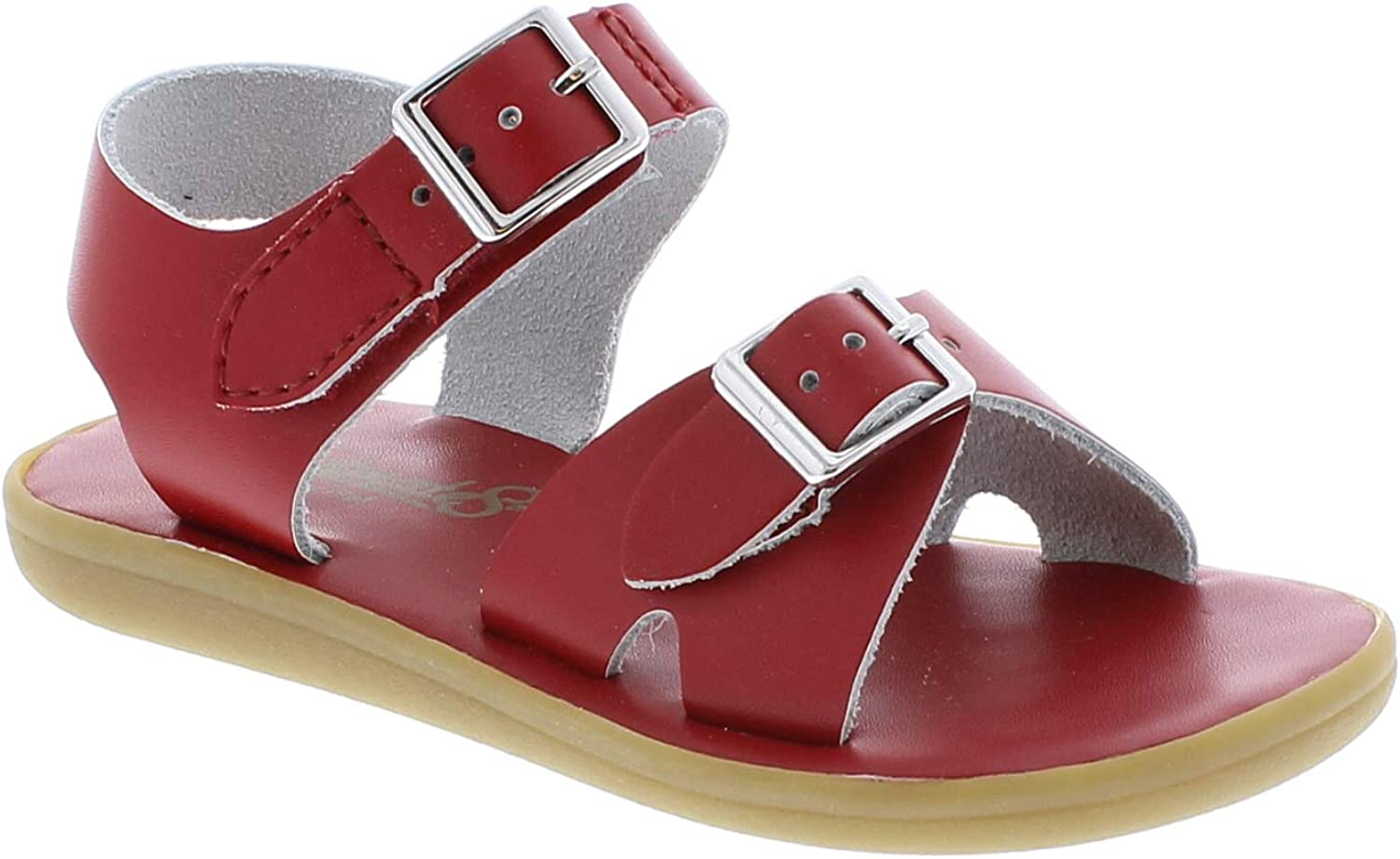 FOOT MATES Boys Tide Hook-and-Loop and Buckle Sandal Kelly Green 1015
