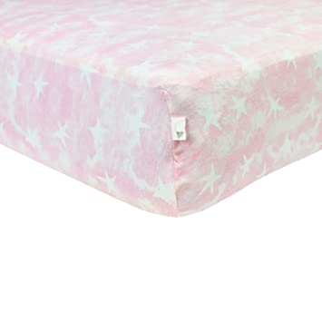 land crib organic bedding well fitted pink pin nod sheet cribs nested of nest home baby the