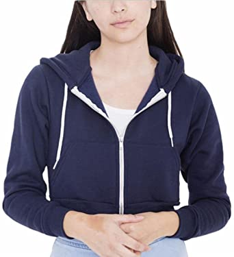 f176adf8b38b Jaycargogo Women s Slim Pocket Crop Zipper Hoodie Solid Shorts Sweatshirt at  Amazon Women s Clothing store