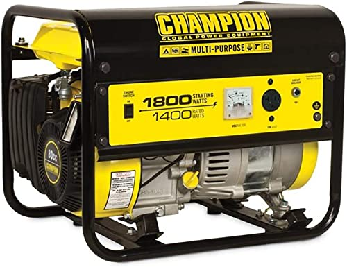 Champion 42432 1400 Watt Quiet Recoil Start EPA Certified CARB Compliant Gas Powered Portable RV Home Generator
