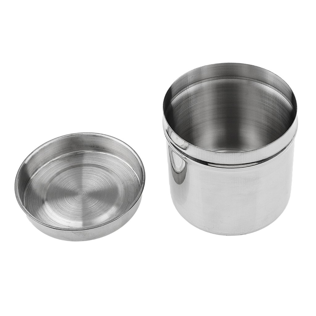 8cm Stainless Steel Dental Box Holder Disinfection Case for Medical Cotton Ball Gauze Dressing Tampon Generic