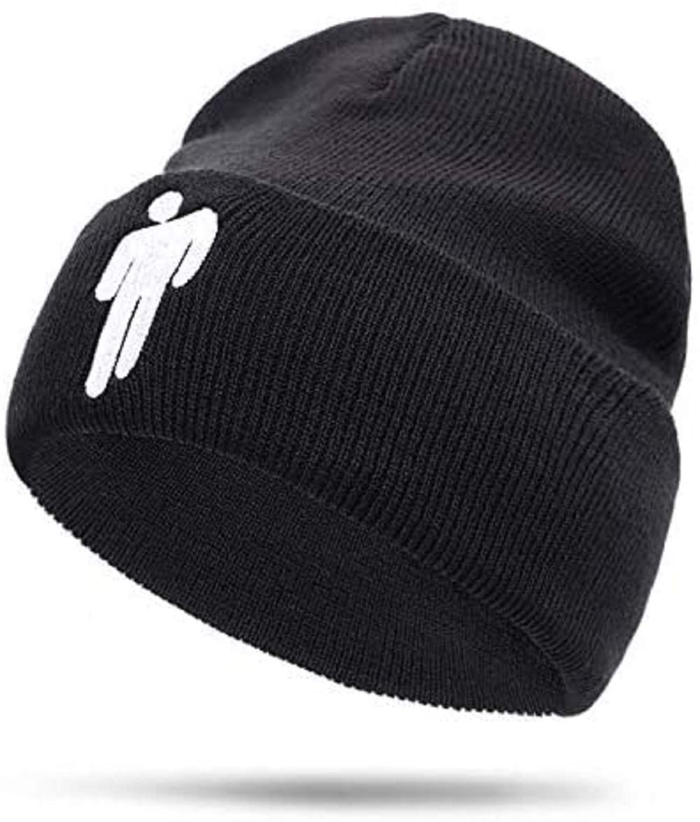 BE Hat Beanie Knit Hat Unisex Embroidered Logo Knitted Cap (Black)