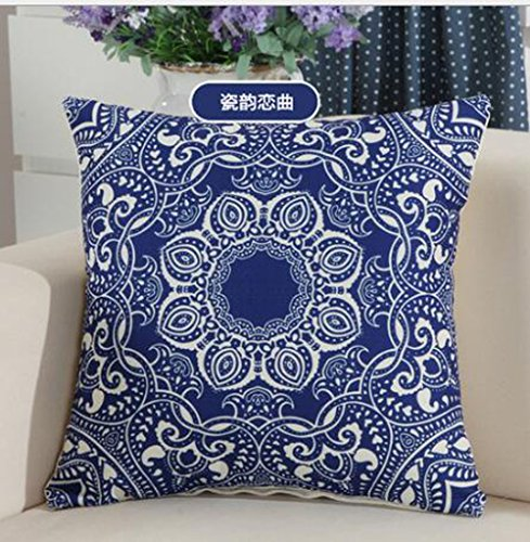 Cotton Linen Simple Beautiful Blue And W - Beautiful Blue Porcelain Shopping Results