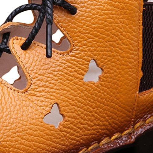 Pelle Fatti Mano Sandali Donna 4 Vogstyle aprikose Da Vera Terra A Estivi In Nuovi Vintage Scarpe art zqx7Tvxw
