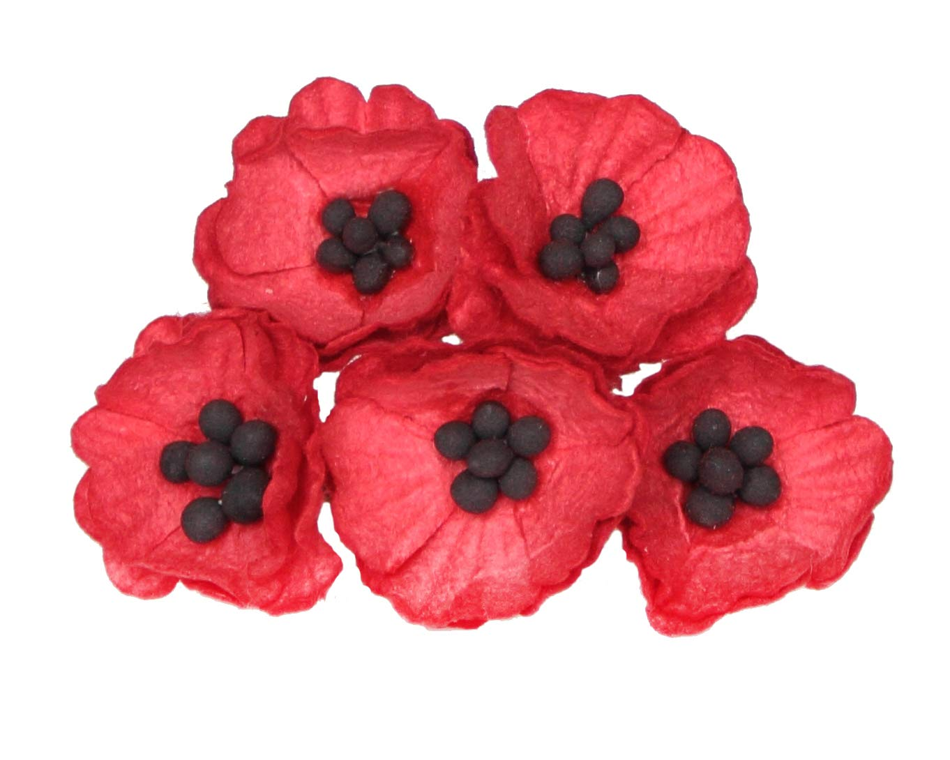 50-red-Paper-Poppy-Flowers-for-Scrapbooking-Veterans-Day-Decoration-by-ScrapFlowers-