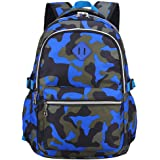 Ladyzone Camo School Backpack Lightweight Schoolbag Travel Camp Outdoor Daypack