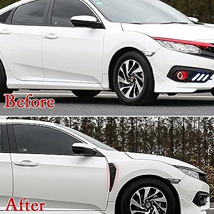 BEHAVE 2 Unidades Cubierta para Palanca de Cambios de Coche para Honda Civic 10th 2017 2018