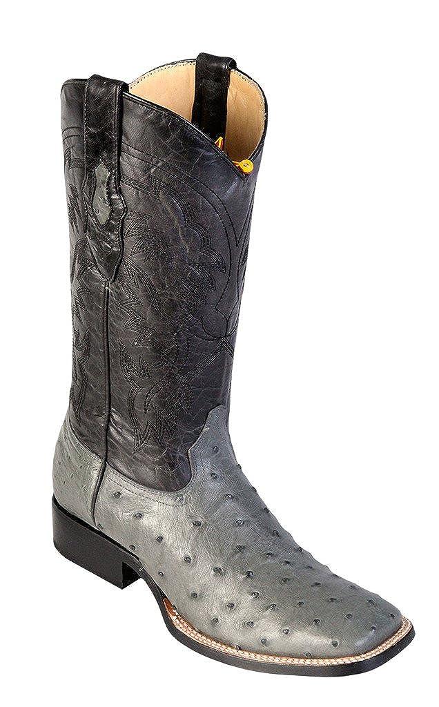 Genuine CROCODILE HORNBACK CHERRY WIDE SQUARE Toe Los Altos Men's Western Cowboy Boot 8220218