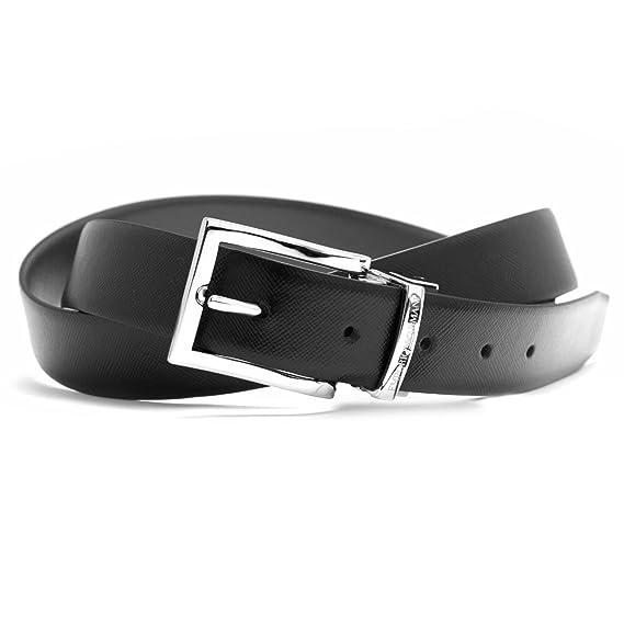 a48febe32c Emporio Armani Y4S223 YLQ6E Mens Leather Formal Belt (Reversible ...