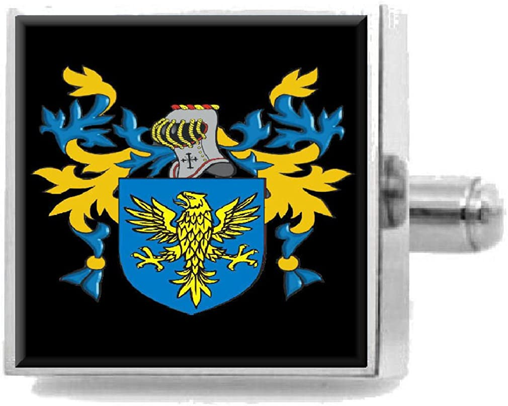 Select Gifts Cresswell England Heraldry Crest Sterling Silver Cufflinks Engraved Box