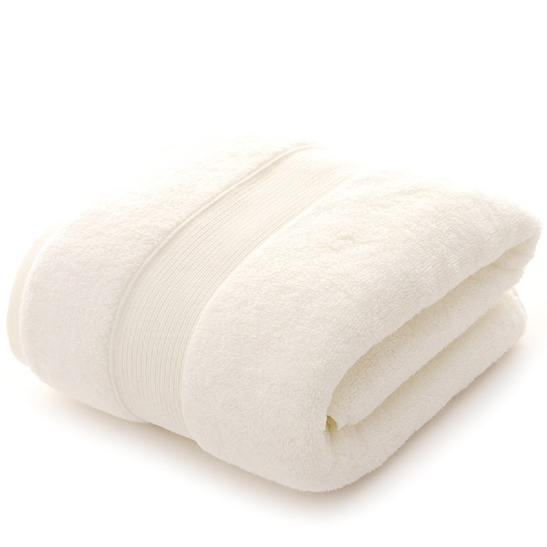 ULIN Bathroom Towels Set Clearance,Combed Cotton Towels, Set of 3,1 Washcloth,1 Hand Towels,1 Bath Towels,Kitchen,Pool,Household,Durable,Absorbent,Comfortable,Extra Large Towel (White)