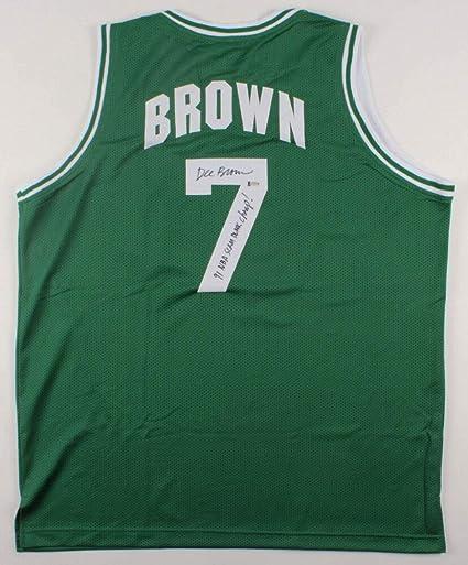 best service c708e c918b Dee Brown Autographed Signed Memorabilia Celtics Jersey ...