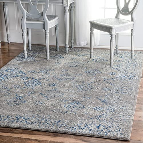 nuLOOM Tarnish Hazy Mysterious Area Rug, 8 x 10 , Dark Blue