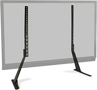 """Atlantic Table Top TV Stand - Universal Adjustable Heavy Duty Table Top TV Stand, Adjust Height, Base Mount for Flat Screen up to 70"""" and 132 lbs, PN 63607232 in Black"""