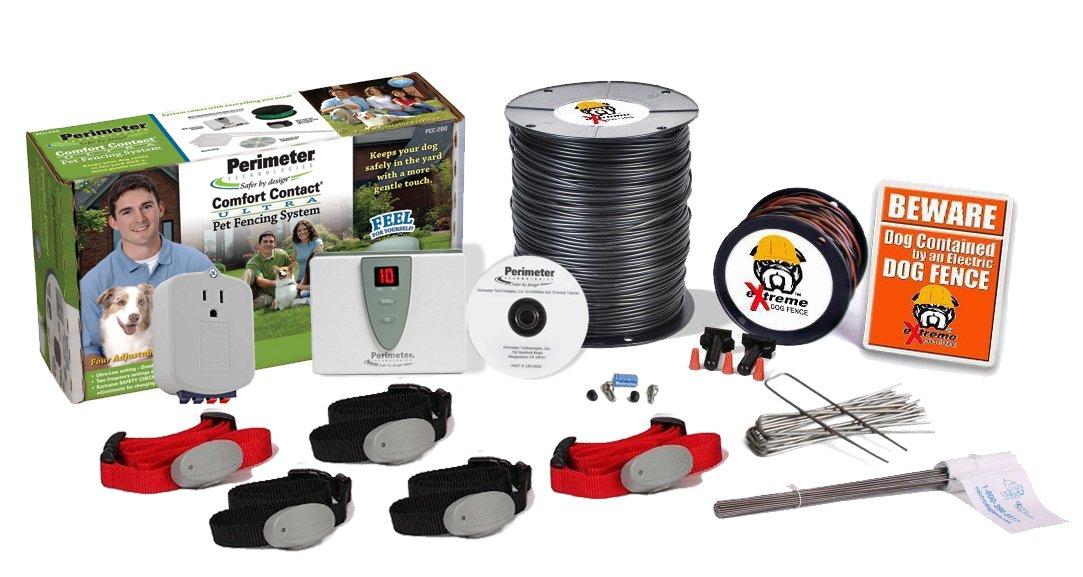 amazoncom perimeter ultimate electric dog fence prograde diy kit 12 1 acre coverage area 1 dog kit pet supplies