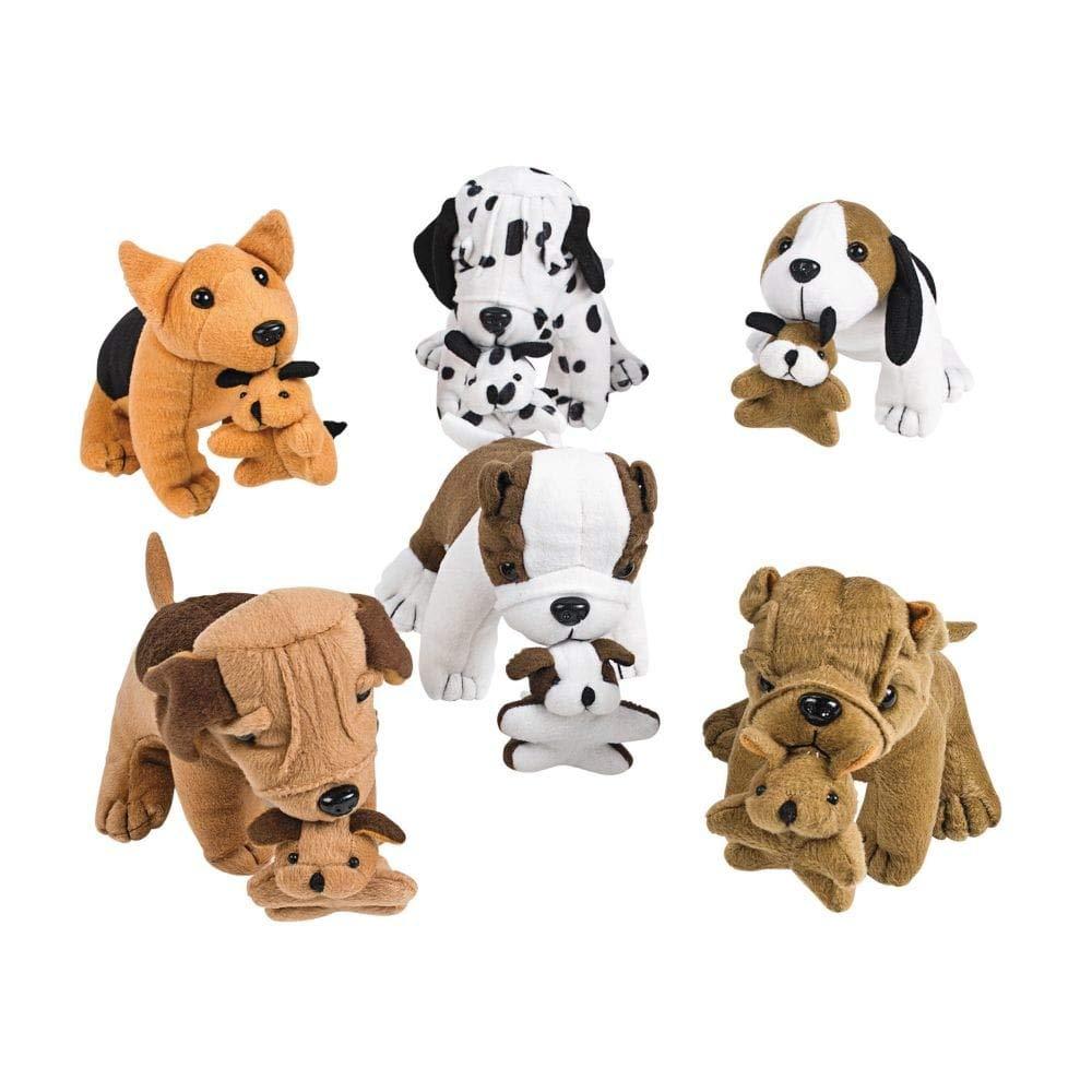 Fun Express Plush Dogs Holding Puppies (1 Dozen) by Fun Express